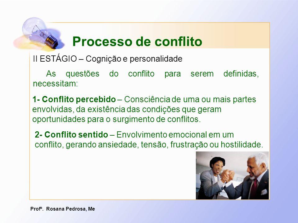 Processo de conflito II ESTÁGIO – Cognição e personalidade