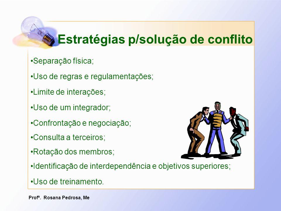 Estratégias p/solução de conflito