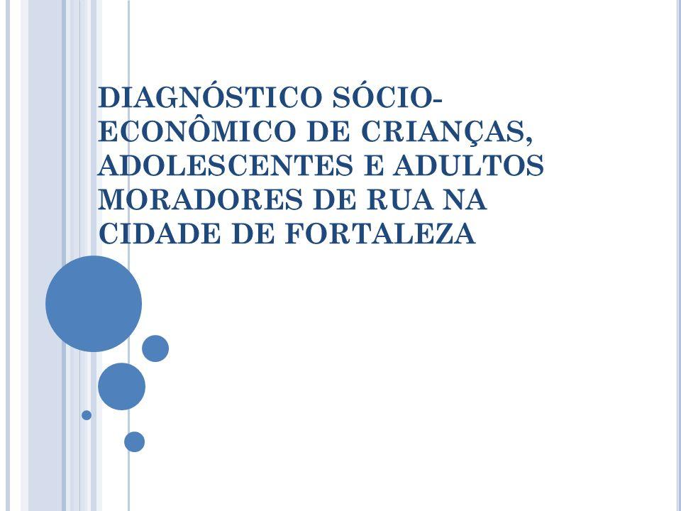 DIAGNÓSTICO SÓCIO-ECONÔMICO DE CRIANÇAS, ADOLESCENTES E ADULTOS MORADORES DE RUA NA CIDADE DE FORTALEZA