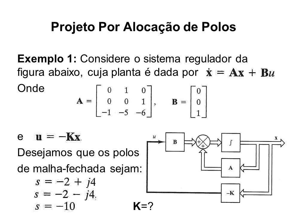 Projeto Por Alocação de Polos