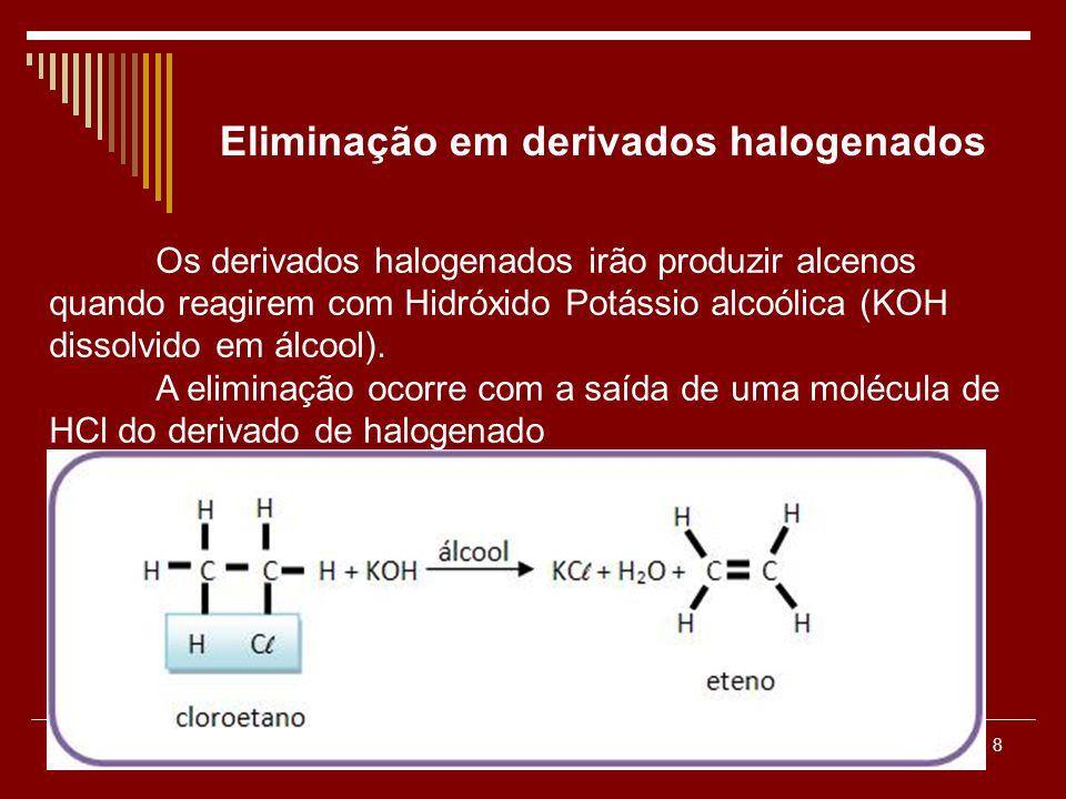 Eliminação em derivados halogenados