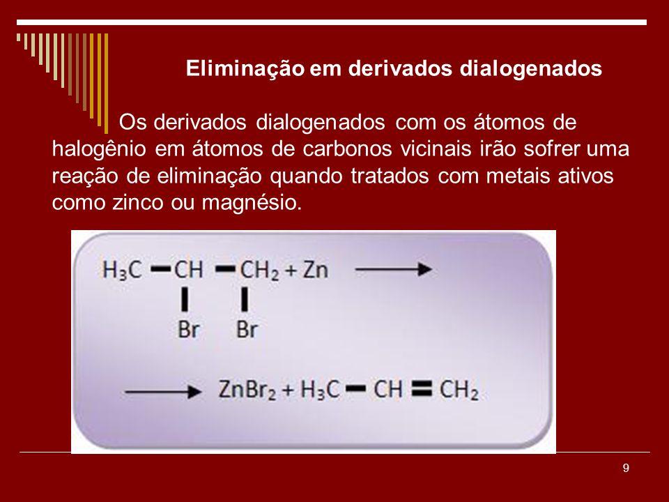 Eliminação em derivados dialogenados