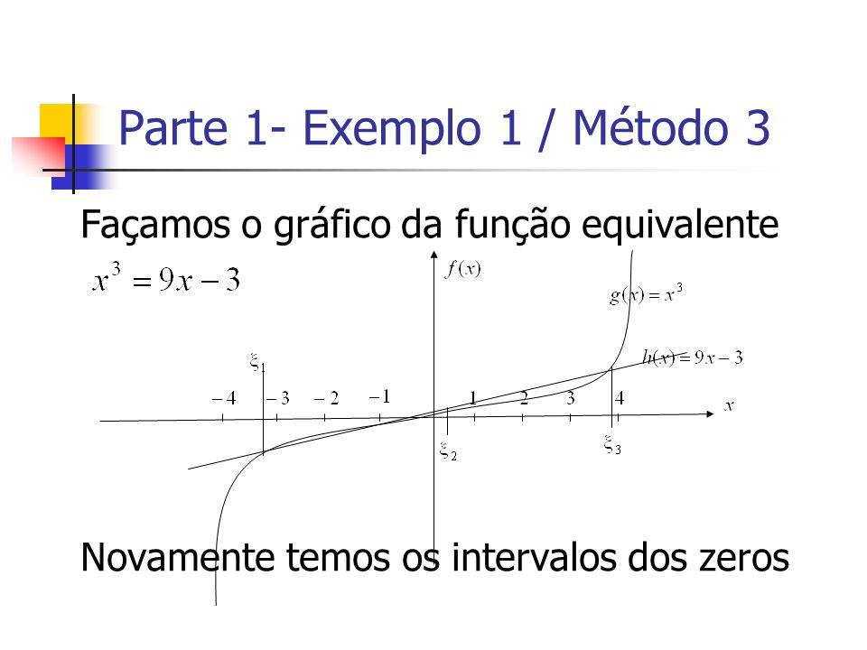 Parte 1- Exemplo 1 / Método 3