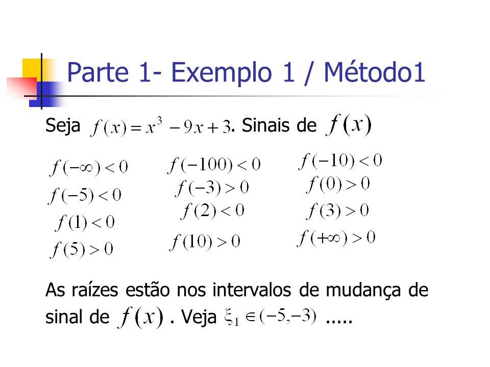 Parte 1- Exemplo 1 / Método1
