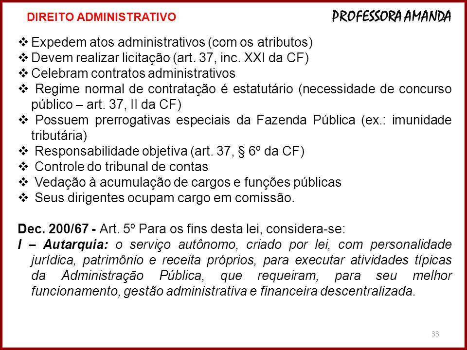 Expedem atos administrativos (com os atributos)