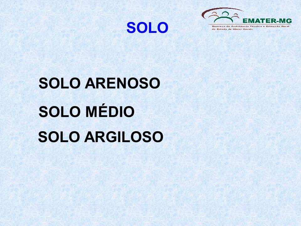 SOLO SOLO ARENOSO SOLO MÉDIO SOLO ARGILOSO 9