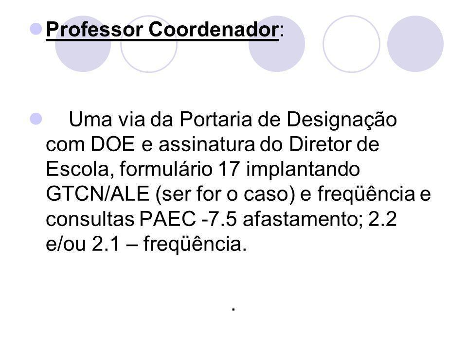 Professor Coordenador: