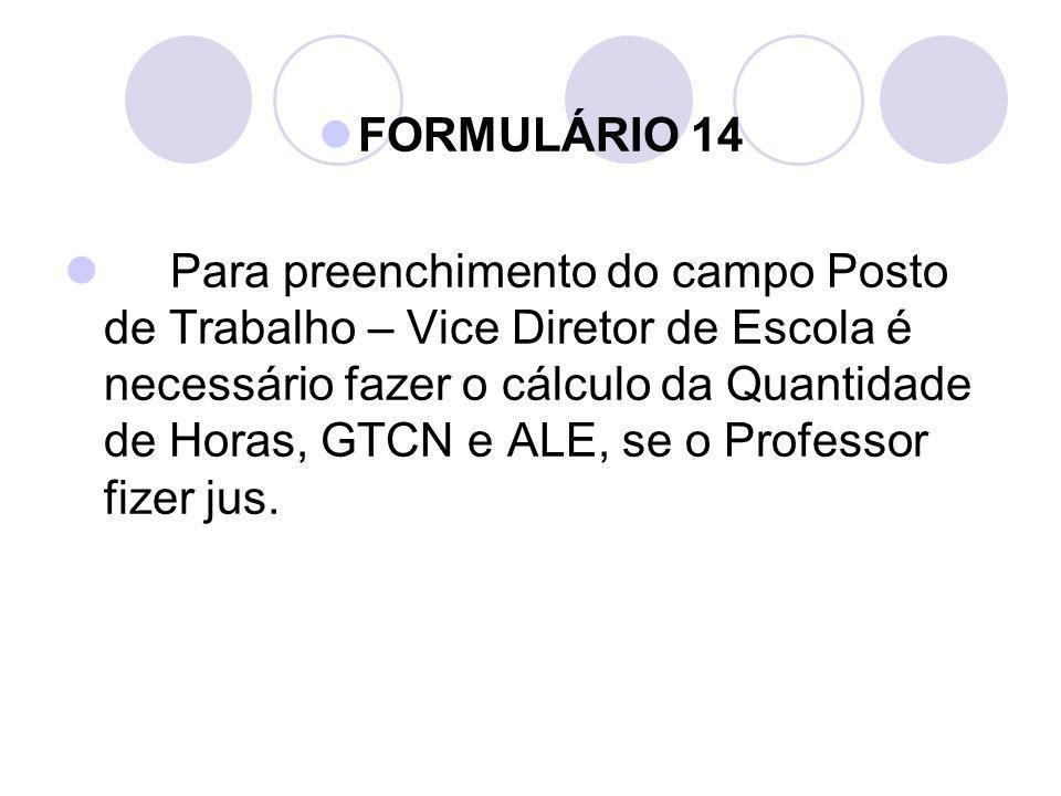 FORMULÁRIO 14