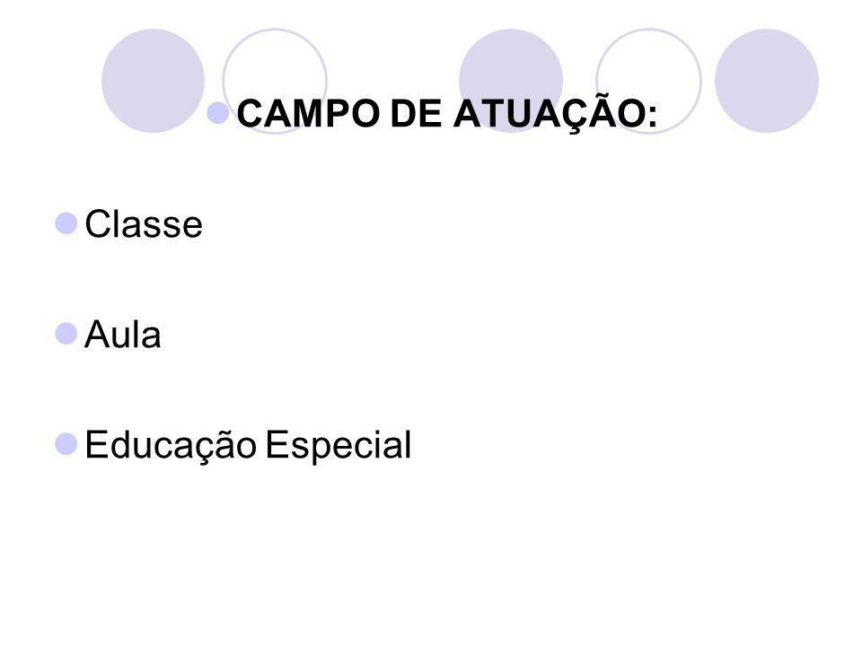CAMPO DE ATUAÇÃO: Classe Aula Educação Especial
