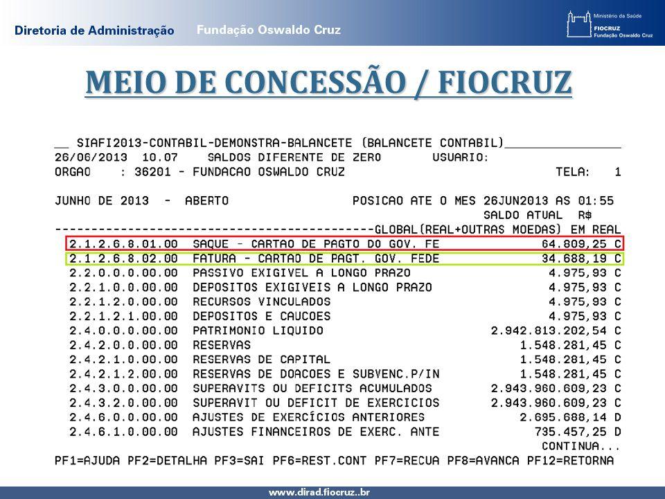 MEIO DE CONCESSÃO / FIOCRUZ