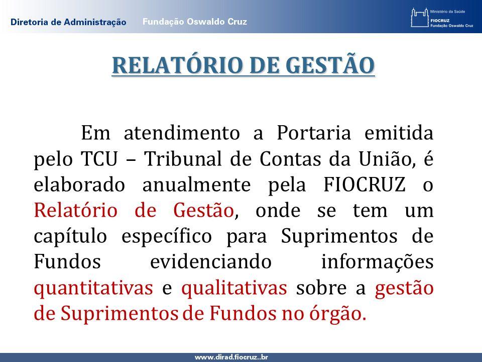 RELATÓRIO DE GESTÃO