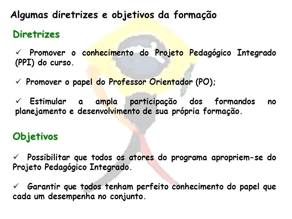 Algumas diretrizes e objetivos da formação