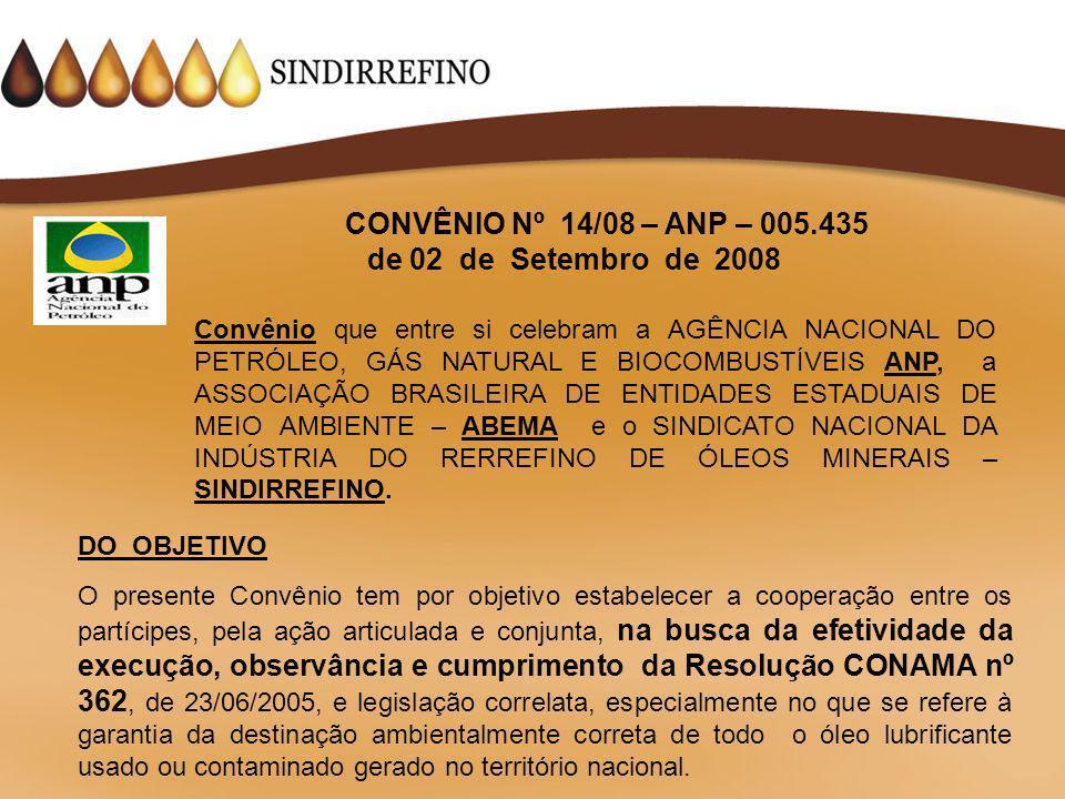 CONVÊNIO Nº 14/08 – ANP – 005.435 de 02 de Setembro de 2008