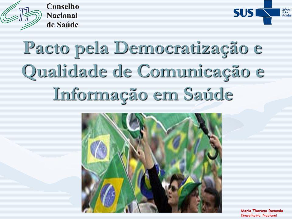 Pacto pela Democratização e Qualidade de Comunicação e Informação em Saúde