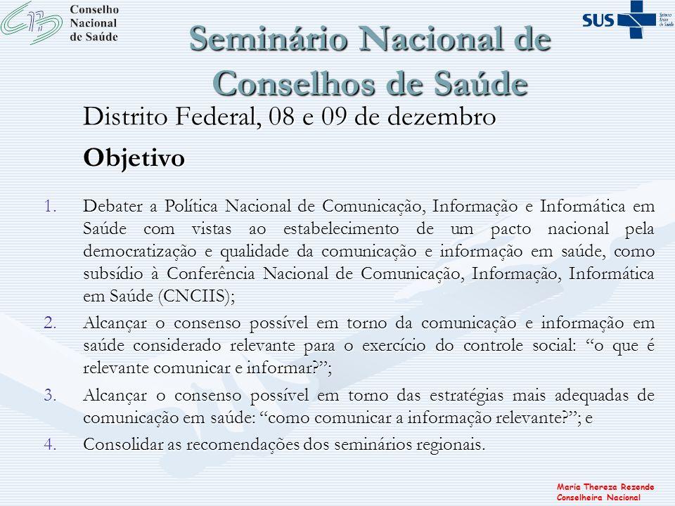 Seminário Nacional de Conselhos de Saúde