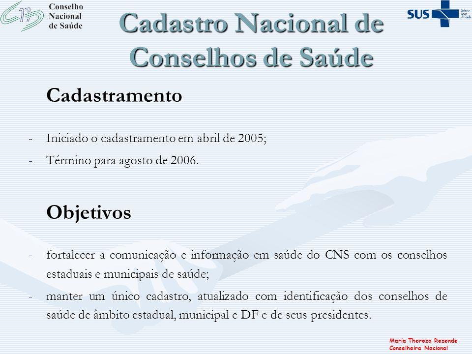 Cadastro Nacional de Conselhos de Saúde