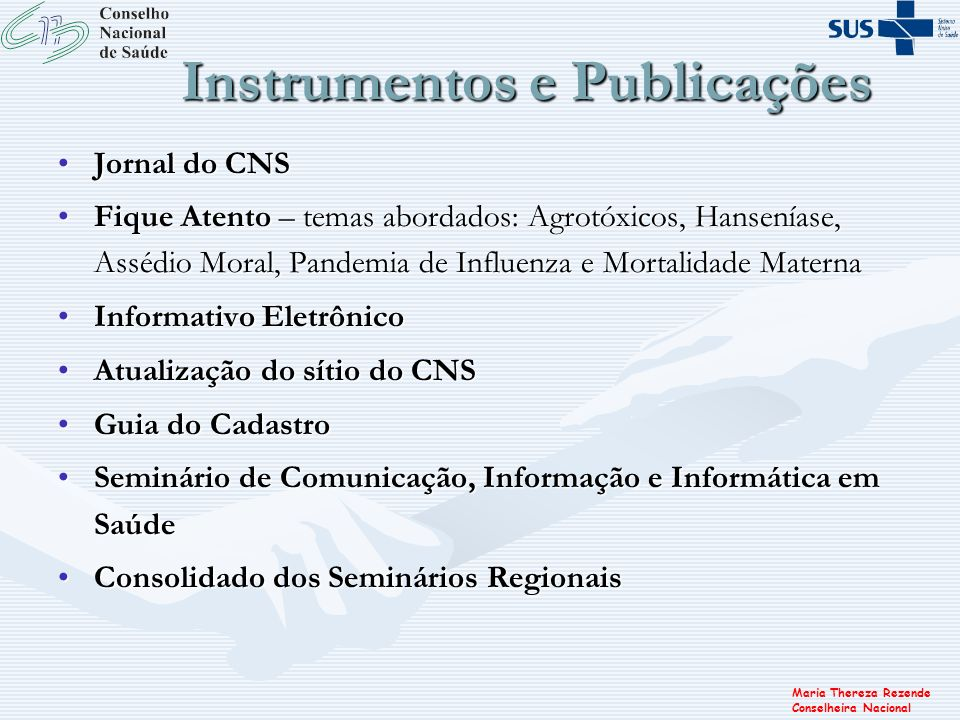 Instrumentos e Publicações