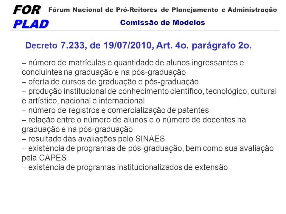 Decreto 7.233, de 19/07/2010, Art. 4o. parágrafo 2o.