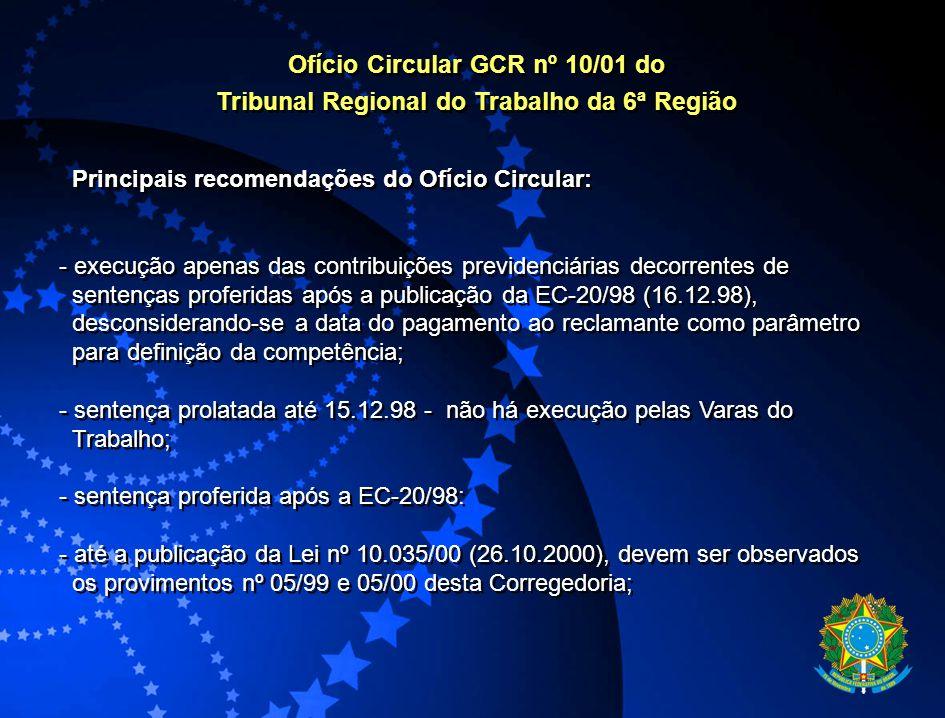 Ofício Circular GCR nº 10/01 do