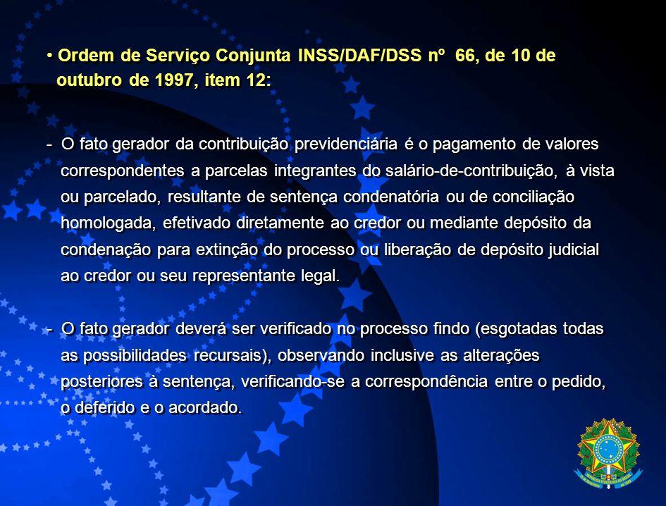 Ordem de Serviço Conjunta INSS/DAF/DSS nº 66, de 10 de