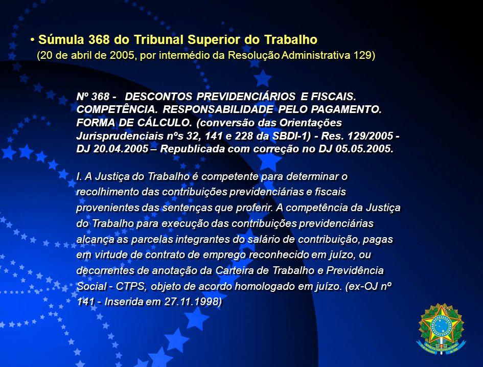 Súmula 368 do Tribunal Superior do Trabalho