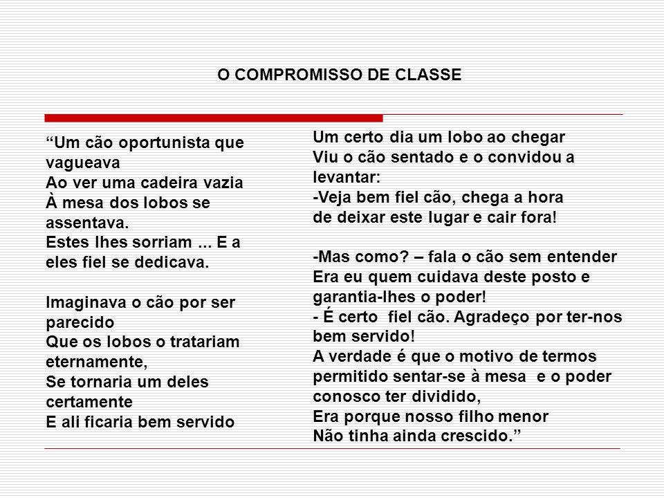 O COMPROMISSO DE CLASSE