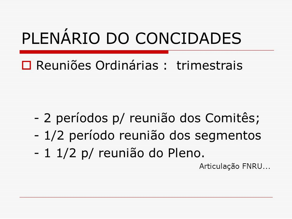 PLENÁRIO DO CONCIDADES