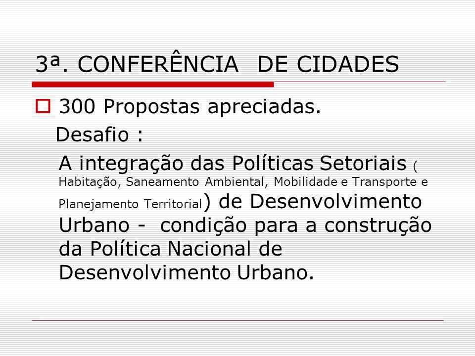 3ª. CONFERÊNCIA DE CIDADES