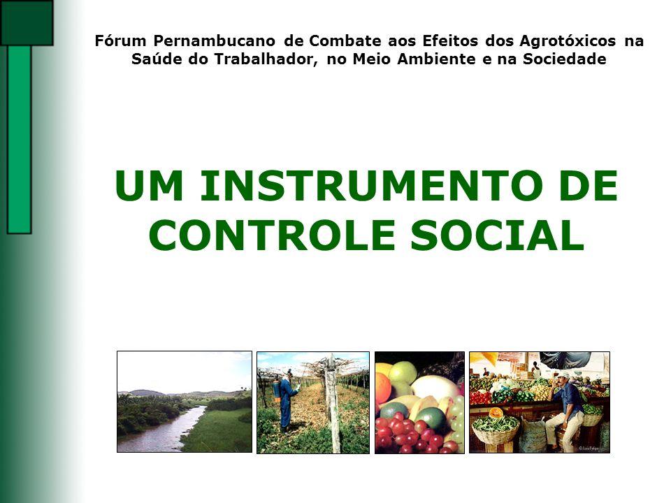 UM INSTRUMENTO DE CONTROLE SOCIAL