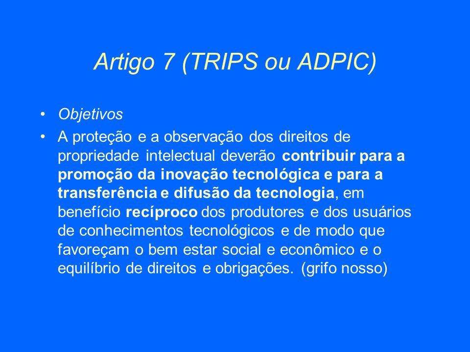 Artigo 7 (TRIPS ou ADPIC)
