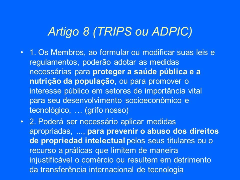 Artigo 8 (TRIPS ou ADPIC)
