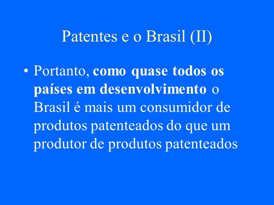 Patentes e o Brasil (II)