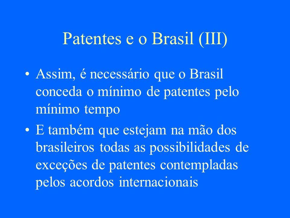 Patentes e o Brasil (III)
