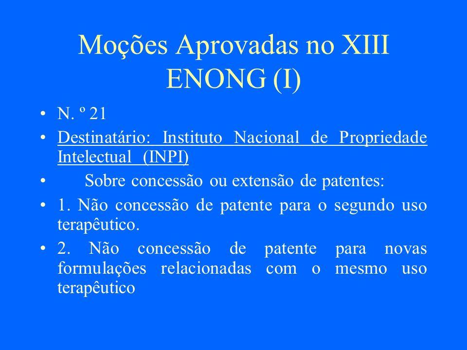 Moções Aprovadas no XIII ENONG (I)