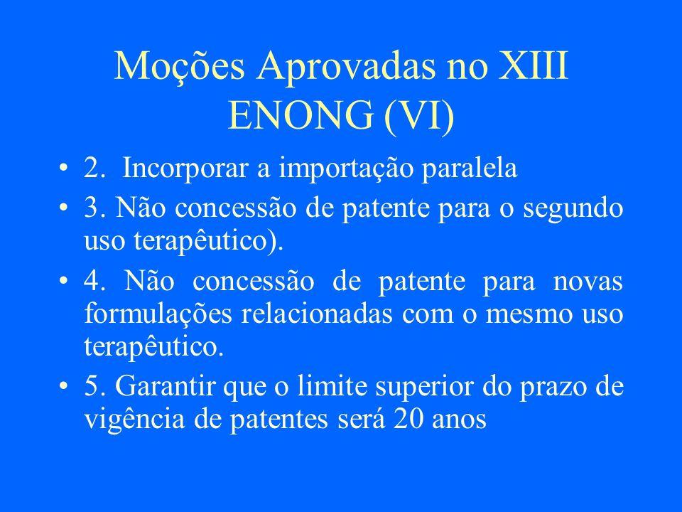 Moções Aprovadas no XIII ENONG (VI)