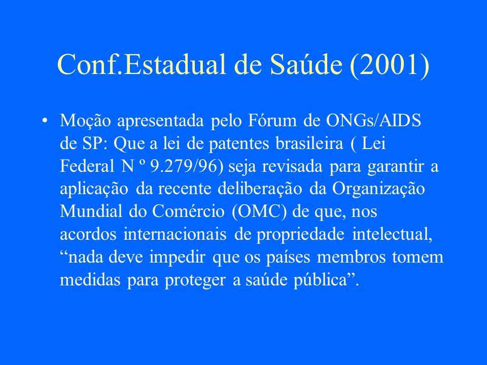 Conf.Estadual de Saúde (2001)
