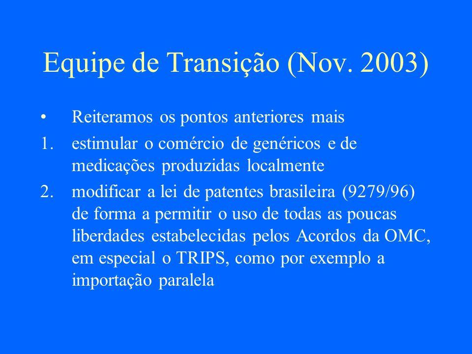 Equipe de Transição (Nov. 2003)