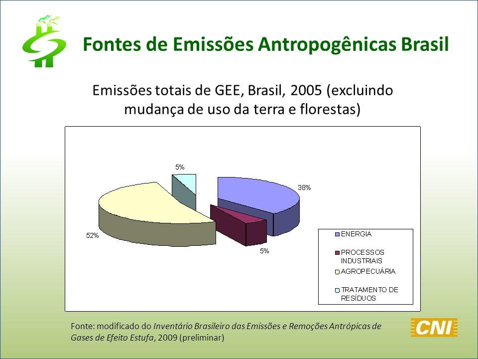 Fontes de Emissões Antropogênicas Brasil
