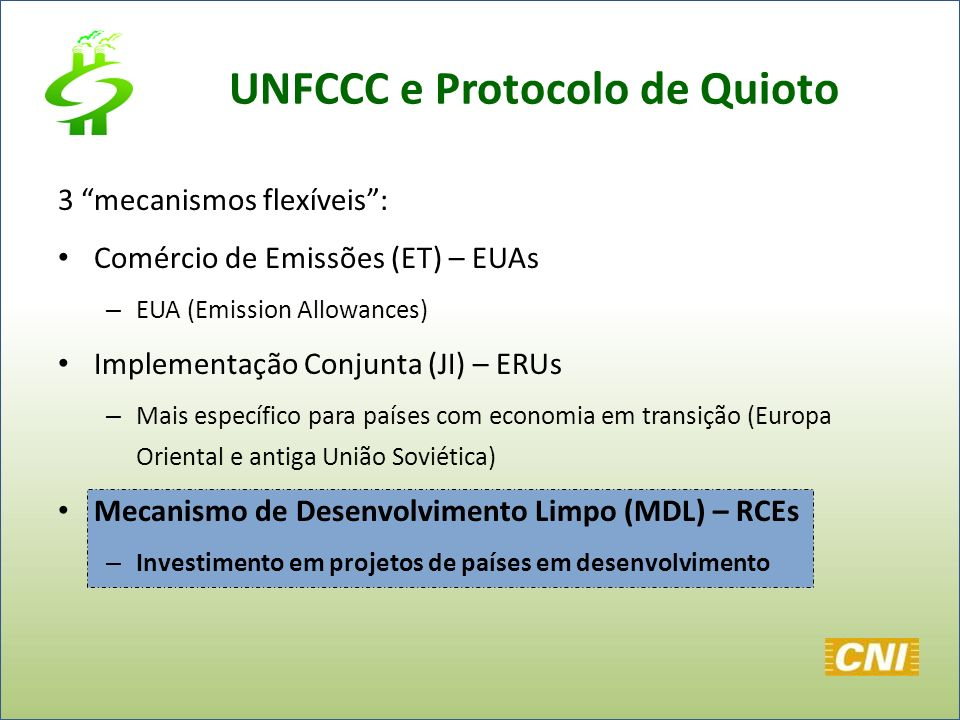 UNFCCC e Protocolo de Quioto