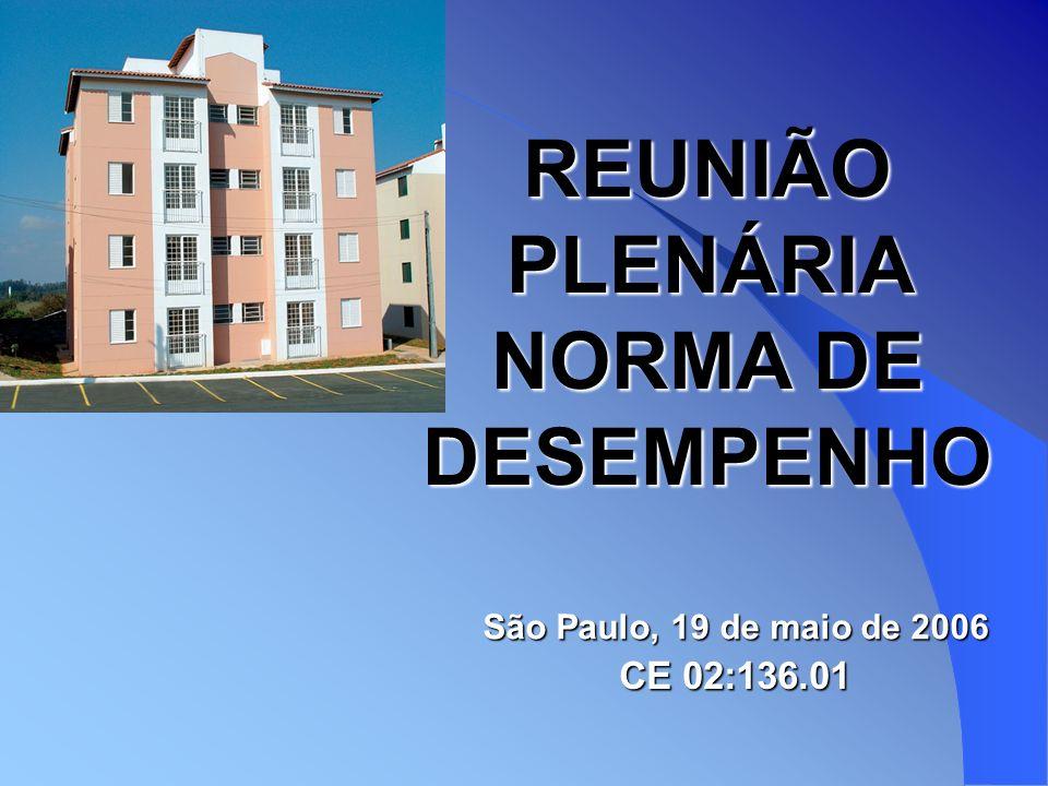REUNIÃO PLENÁRIA NORMA DE DESEMPENHO