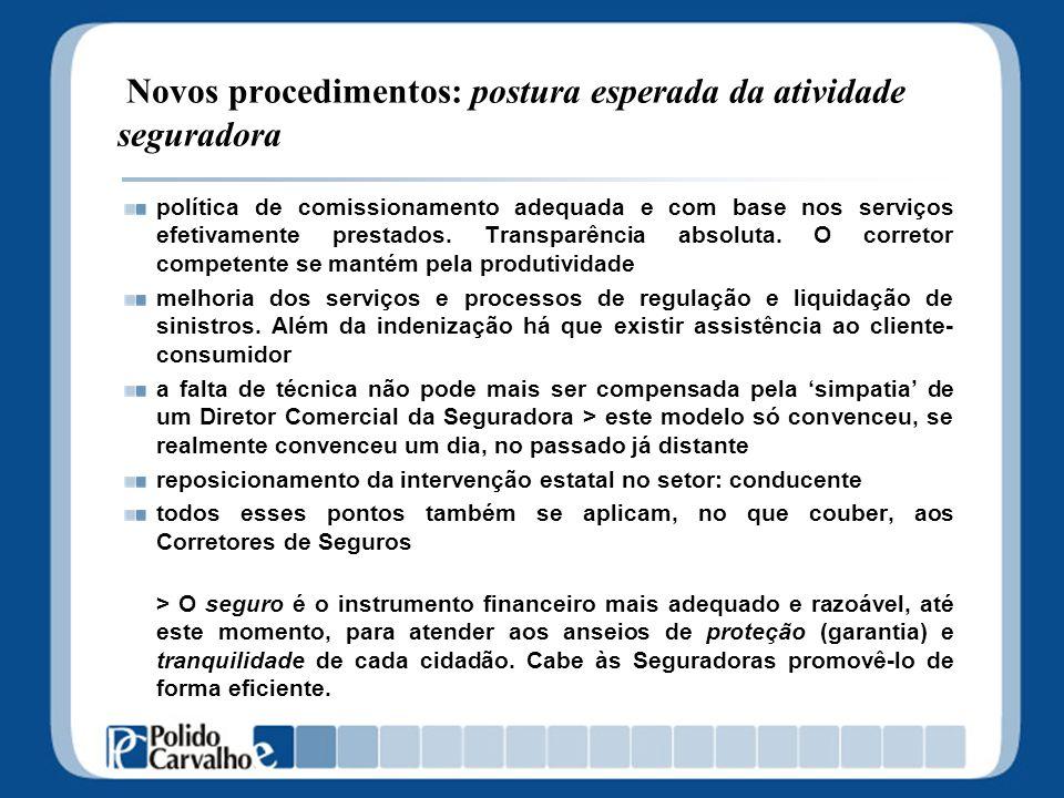 Novos procedimentos: postura esperada da atividade seguradora