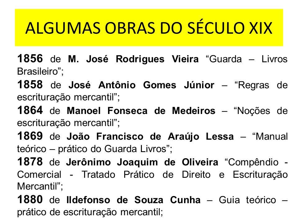 ALGUMAS OBRAS DO SÉCULO XIX