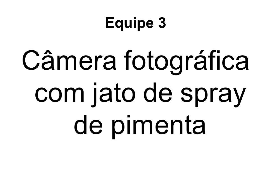 Câmera fotográfica com jato de spray de pimenta