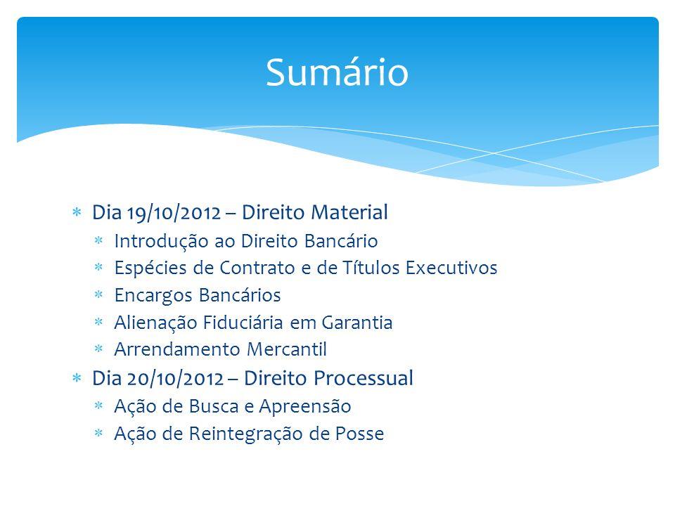 Sumário Dia 19/10/2012 – Direito Material