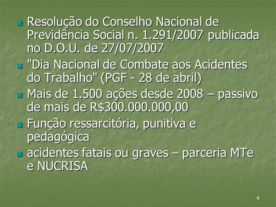 Resolução do Conselho Nacional de Previdência Social n. 1