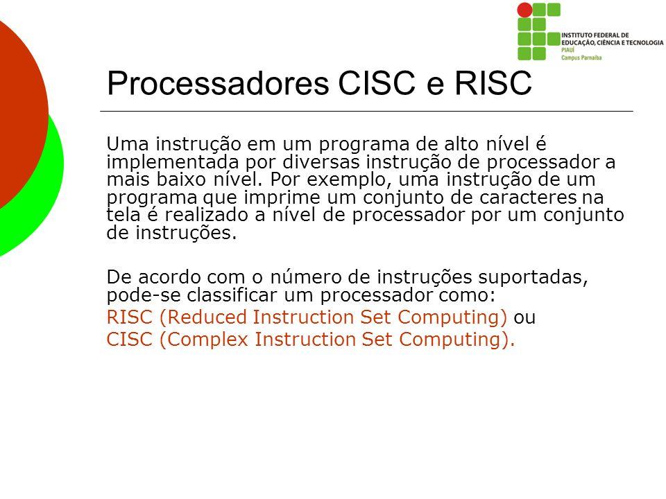 Processadores CISC e RISC