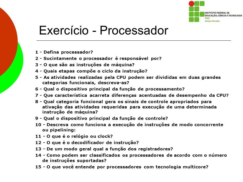 Exercício - Processador
