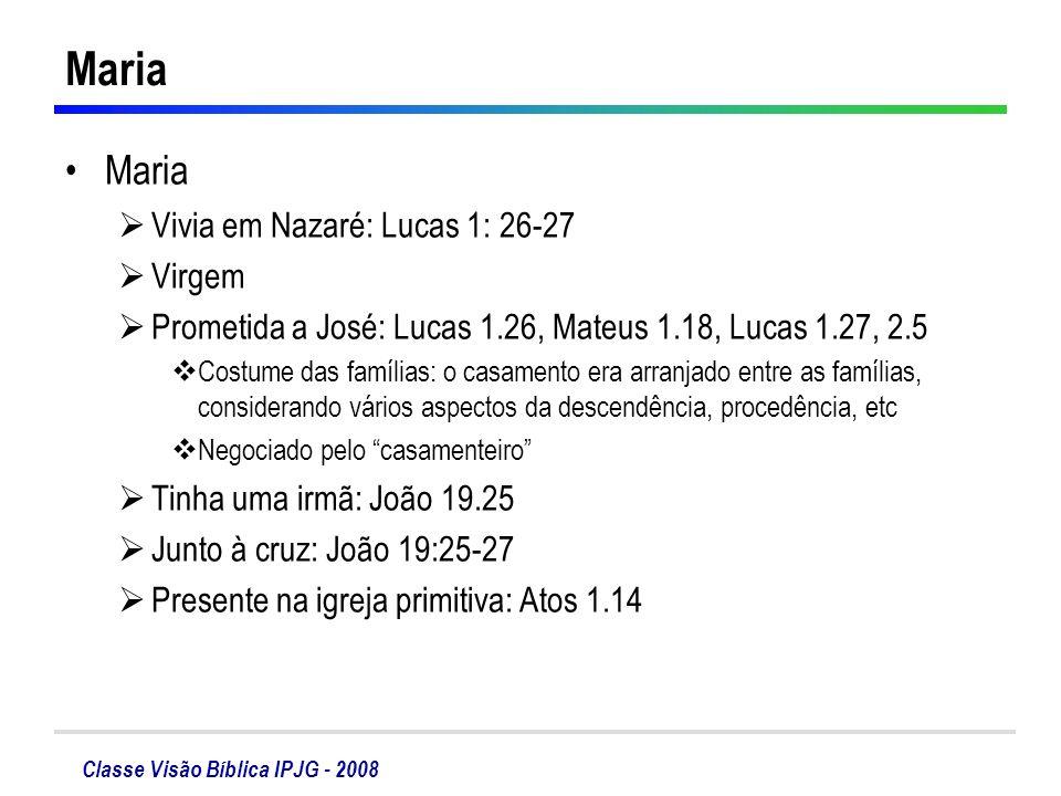 Maria Maria Vivia em Nazaré: Lucas 1: 26-27 Virgem