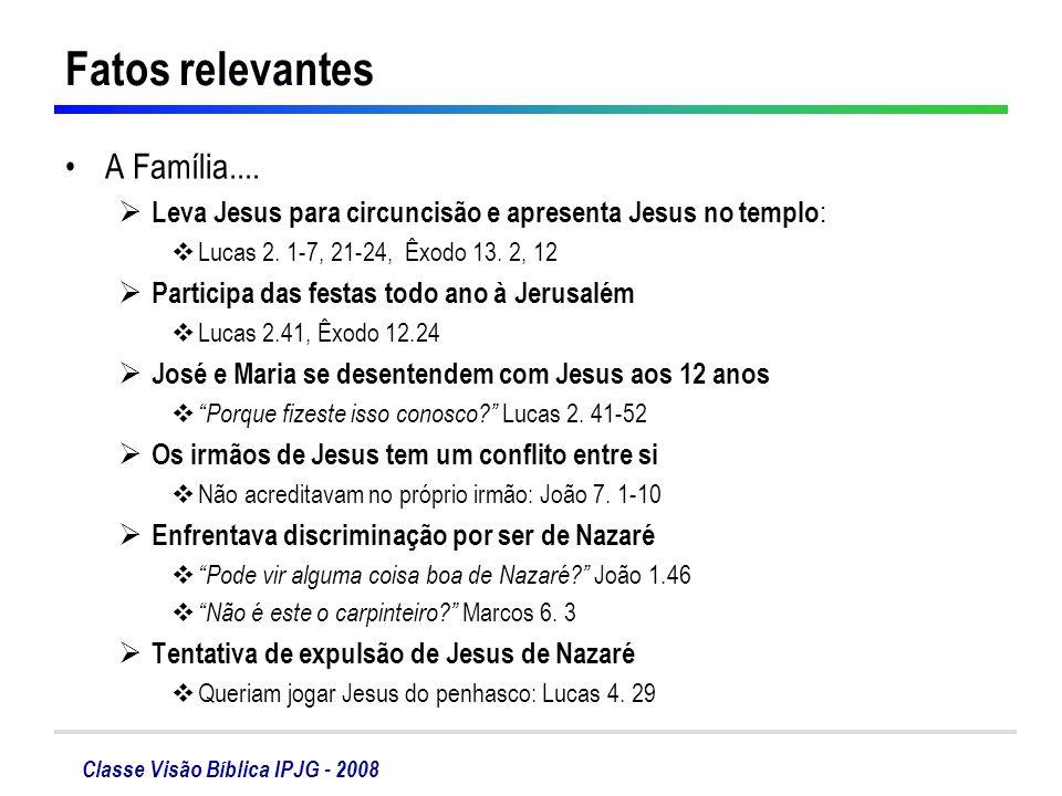 Fatos relevantes A Família....