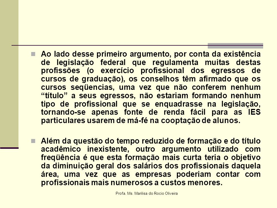 Profa. Ms. Marilisa do Rocio Oliveira